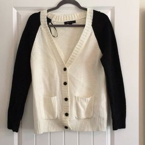 Black and White Sweater Cardigan
